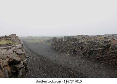 Iceland endless black fields