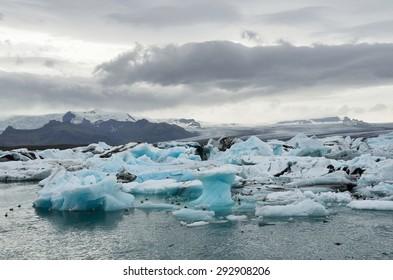 Iceland glacial lagoon Jokulsarlon