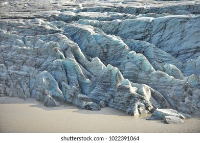 Iceland. Global warming. Melting glaciers