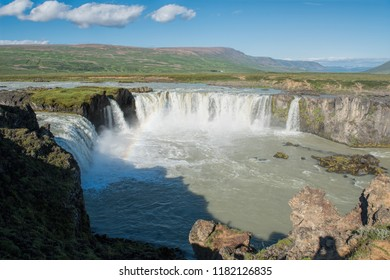 iceland Godafoss waterfalls