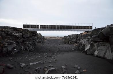 Iceland Hafnir two continents bridge reykjanes peninsula