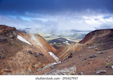 Iceland Highland color mountains
