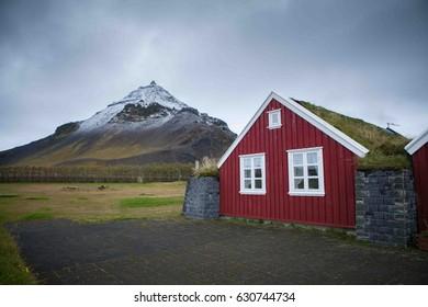 Iceland House. Icelandic House. Colourfull house