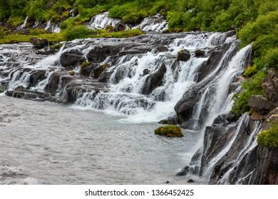 Iceland / Hraunfossar Falls