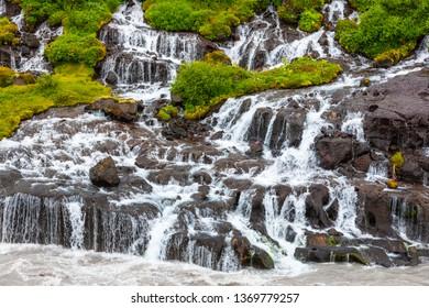Iceland, Hraunfossar Falls