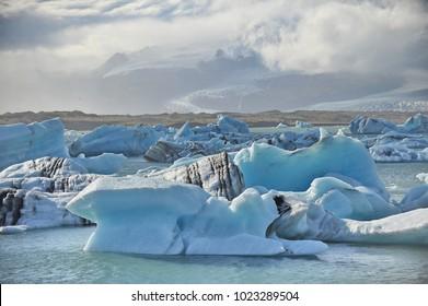 Iceland. Icebergs  of Jokulsarlon