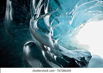 Iceland Icecave Super blue Vatnajokull winter