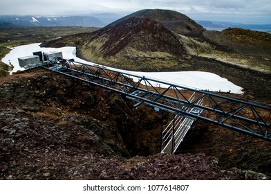 Iceland Inside The Volcano Thrihnukagigur Hiking Trekking summer