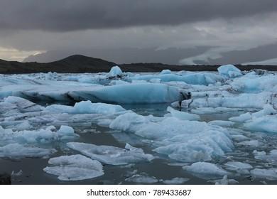 Iceland Jokulsarlon Lagoon Icebergs Ice