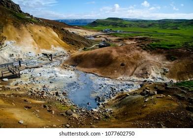 Iceland Krisuvik reykjanes peninsula summer