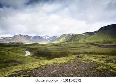 Iceland landscape in summer traveling