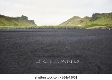 Iceland landscape view.