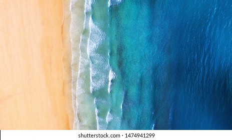 Iceland. Panoramic aerial view on the coast line. Beach and sea from air. Famous place in Iceland. Summer seascape from drone. Travel - image