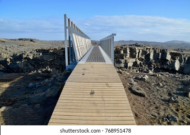 Iceland Reykjanes Peninsula Bridge Between Continents