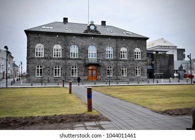 Iceland Reykjavik Althing National Diet Building
