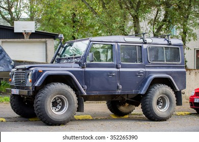 ICELAND, REYKJAVIK - SEP 13: Land Rover Defender on Sep. 13, 2015 in Reykjavik, Iceland. The iconic and legendary Land Rover Defender was issued in 1983. It goes out of production in Dec. 2015.