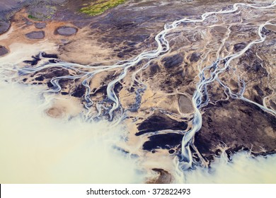 Iceland - Rivers - Aerial view