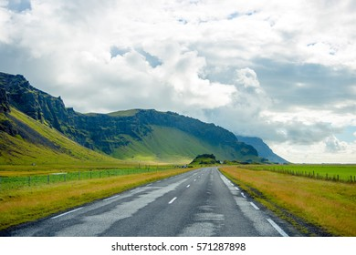 Iceland road view