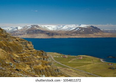 Iceland scenery from Akrafjall, Akranes