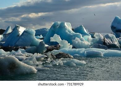 Iceland scenery - glacier lake Jokusarlon