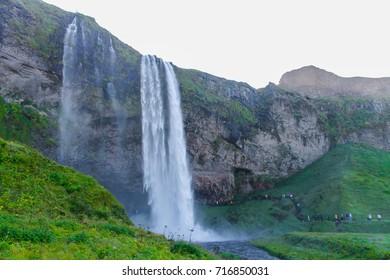 ICELAND - Seljalandsfoss is a waterfall in Iceland