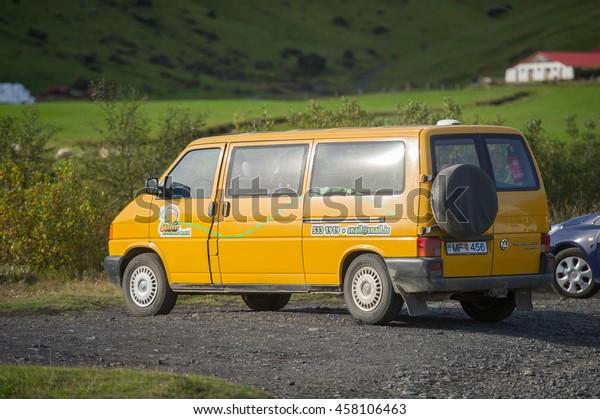 Iceland September 16 2015 Volkswagen Transporter Stock Photo