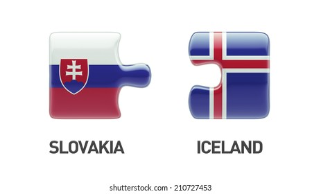 Iceland Slovakia High Resolution Puzzle Concept