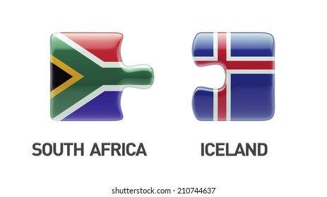 Iceland South Africa High Resolution Puzzle Concept