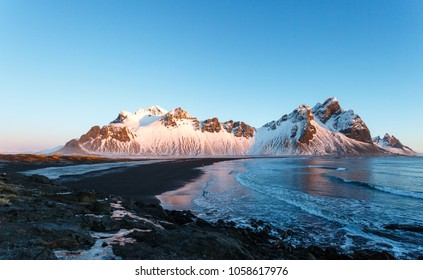 Iceland, Stokkness in winter morning