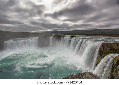 Iceland (Summer), the magnificent Godafoss waterfall