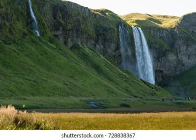Iceland (Summer)  the wonderful SELJALANDSFOSS waterfall
