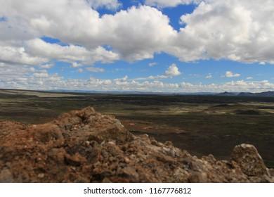 Iceland volcano deserted field Mars