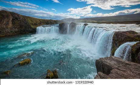 Iceland waterfall river