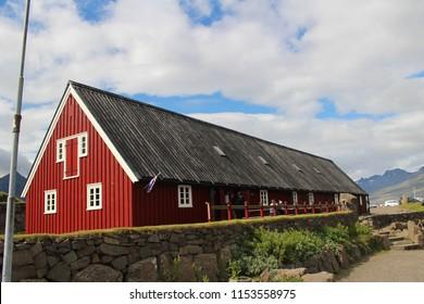 Iceland,, wilage, buildings,