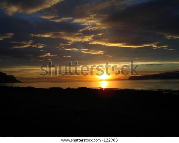 Icelander sunset