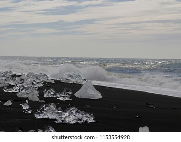 Icelandic diamond on the black