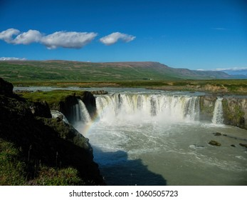 icelandic Godafoss waterfalls