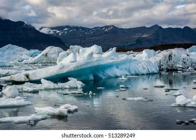 Icelandic icebergs.