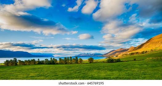 Icelandic landscape near Akureyri