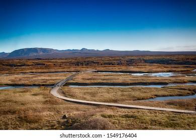 Icelandic landscape at Thingvellir national park