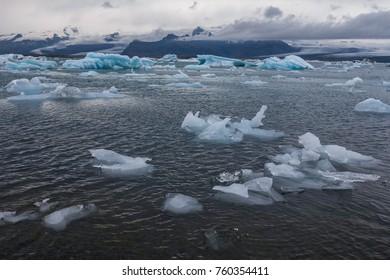 icelandic nature, an ice lagoon