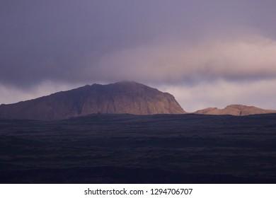 Icelandic summer mountain landscape