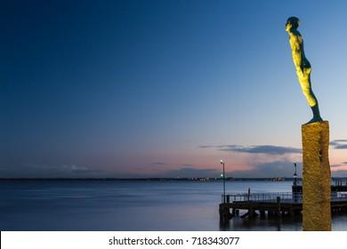 Icelandic Voyage Sculpture, Victoria Pier on Hull Marina
