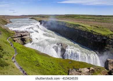 Icelandic Waterfall Gullfoss - Golden Falls