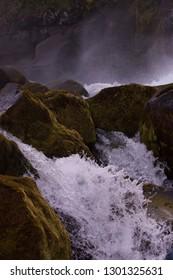 Icelandic  waterfall landscape scenery