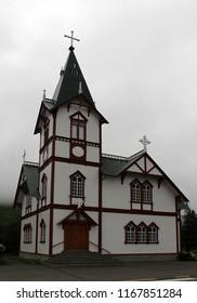 Icelandic wooden church building
