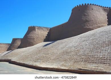 The Ichan-Kala Fortress.Uzbekistan.