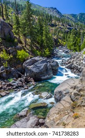 Icicle Creek in Leavenworth Washington in the Cascade Mountains in central Washington State United States