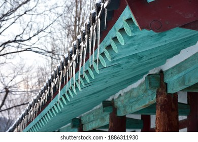 The icicles of a Korean Traditional House Roof