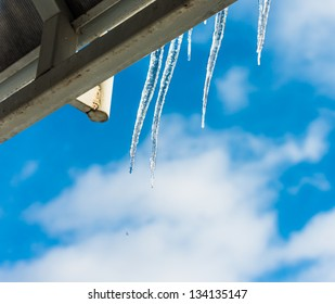 icicles melting in the spring sunshine
